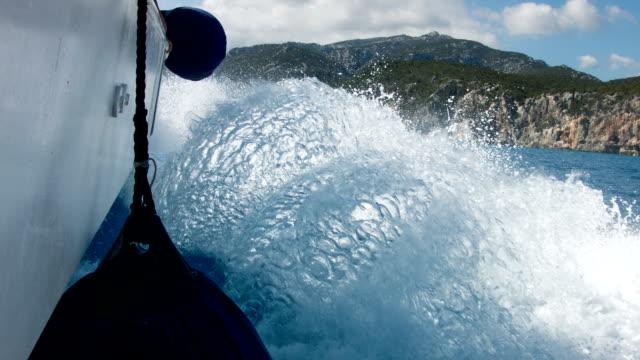 POV: on a speedboat video