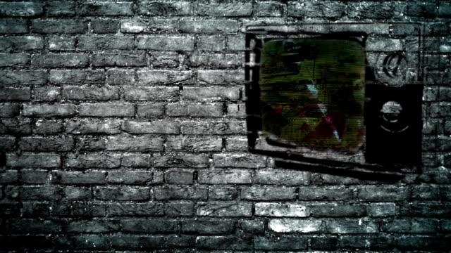 Televisión en una pared - vídeo