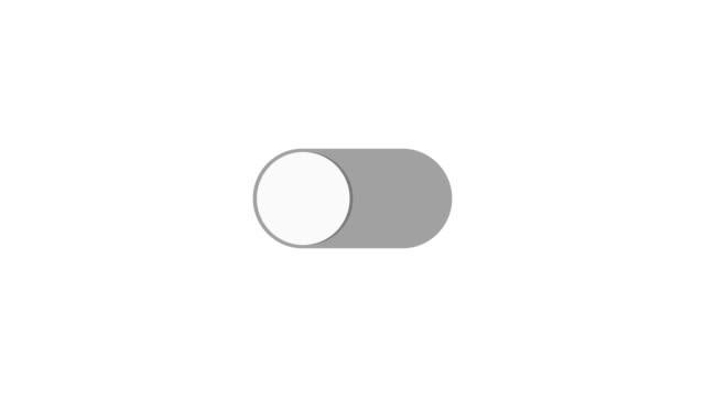 ein- und ausschalten schalter ein/aus. animation mit optionalen luma matte. alpha luma matte enthalten. 4k video - zahlentastatur stock-videos und b-roll-filmmaterial