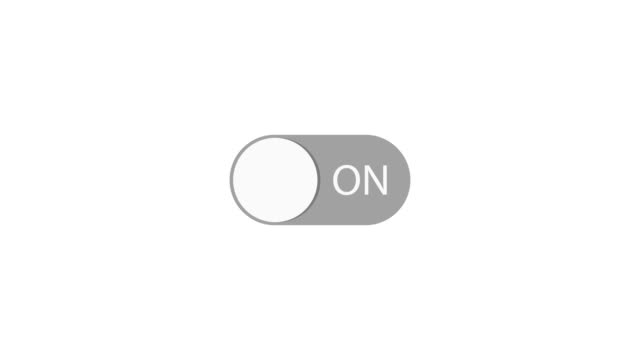 on and off switch toggle. animation with optional luma matte. alpha luma matte included. 4k video - semplicità video stock e b–roll