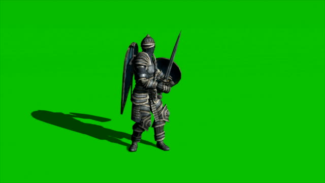 on Green Screen Background