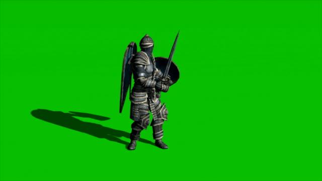 在綠屏背景上 - sword 個影片檔及 b 捲影像