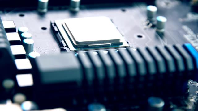 マザーボード上のcpu - 半導体点の映像素材/bロール