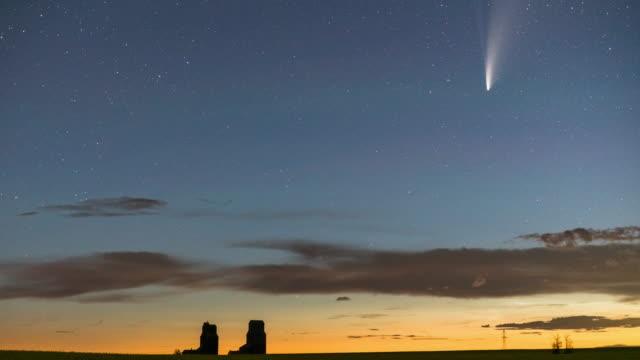 C/2020 F3 (NEOWISE) on north Saskatchewan, canada
