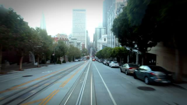 POV on San Francisco cable car video