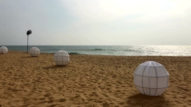 On the beach in Mount Lavinia Hotel. On the beach in Mount Lavinia Hotel. Mount Lavinia Hotel Colombo is one of the oldest hotels in Sri Lanka. colombo stock videos & royalty-free footage