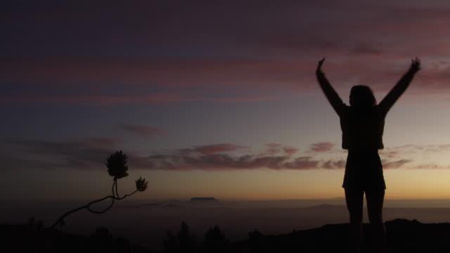vídeos de stock e filmes b-roll de on the darkest of days i choose to shine - mulher deixar ir