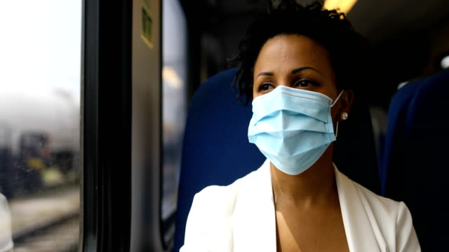 On the move with flu mask