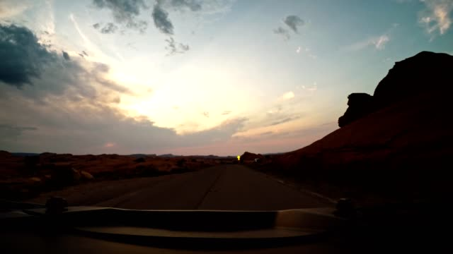 on the road in the moab national park