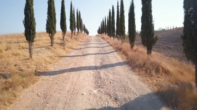 On the road of Val d'Orcia video