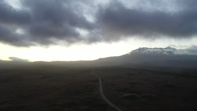 On the road to Mount Ruapehu at dawn, National Park, New Zealand - 2