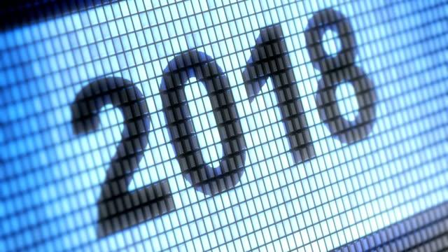 vidéos et rushes de «2018» sur l'écran. résolution 4k. une boucle. - 2018