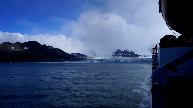 On top of a ship with view at antartica On top of a ship with view at antartica grytviken stock videos & royalty-free footage
