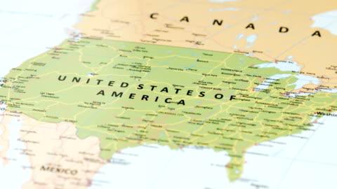vídeos y material grabado en eventos de stock de estados unidos de américa del norte en el mapa del mundo - cultura estadounidense