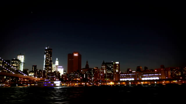 Onboard a cruise down the east river, New York video
