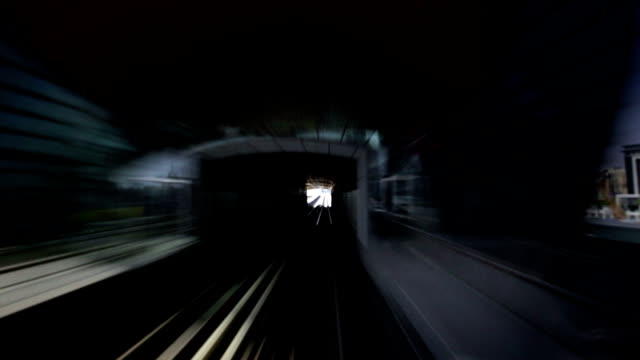 Onboard the Dubai Metro during day
