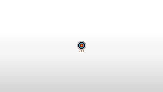One arrow hitting exactly in the targets 1(included Alpha) video