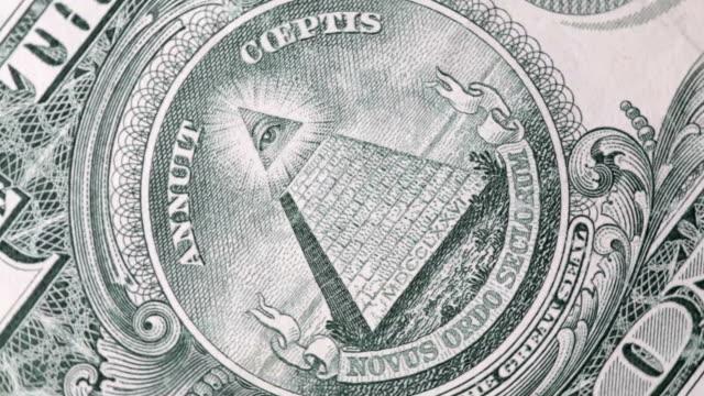 one dollar bill - pyramidform bildbanksvideor och videomaterial från bakom kulisserna