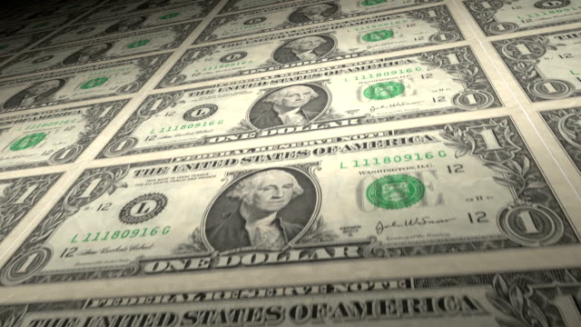 One Dollar Bills loop. HD video