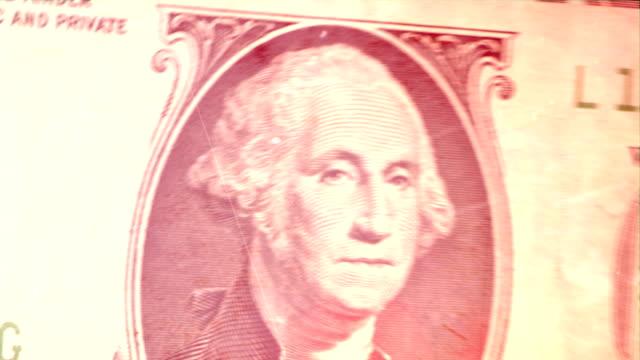 1 つの紙幣-グランジます。 hd - 米国ドル紙幣点の映像素材/bロール