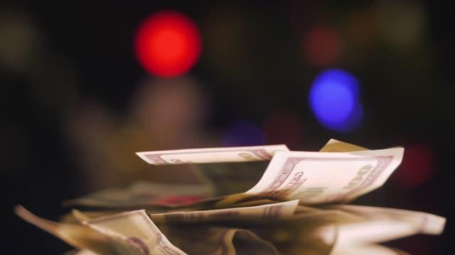 yüz dolarlık banknotlar - tezat stok videoları ve detay görüntü çekimi