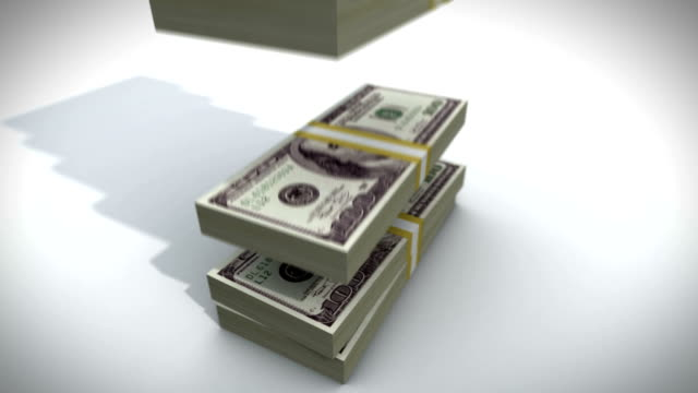 One Hundred Dollar Bill Stacks video