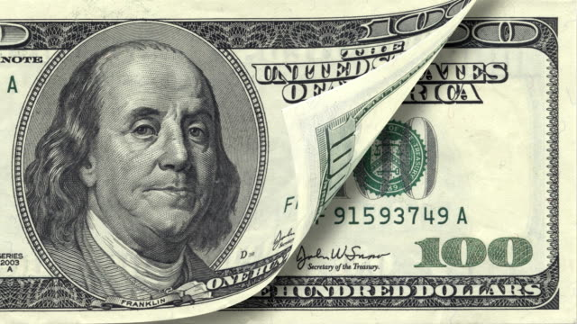 One Hundred Dollar Bill HD  incentive stock videos & royalty-free footage