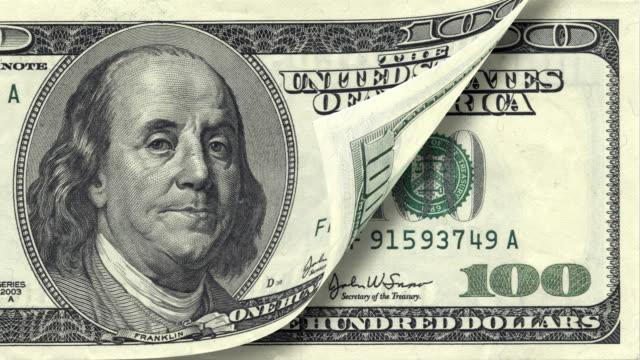 banconota da cento dollari canadesi - bonus video stock e b–roll