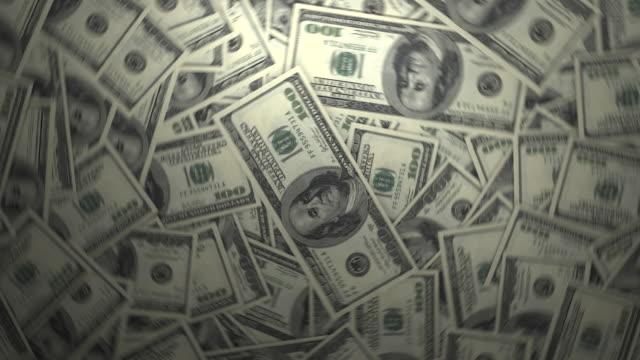 One Hundred Dollar Bills. 4k video