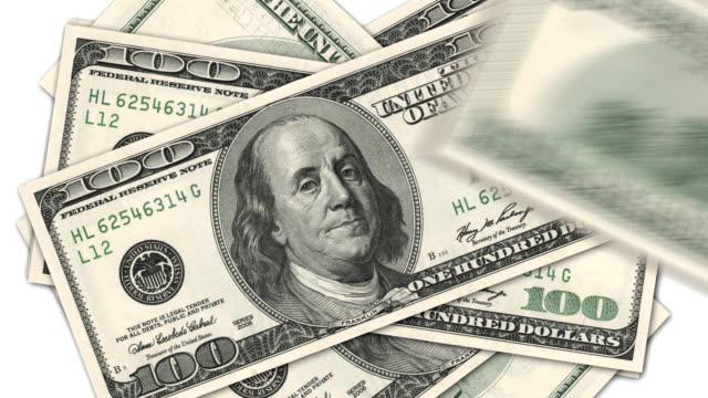 One hundred dollar bills video