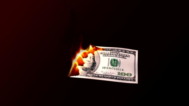 One hundred dollar burning video