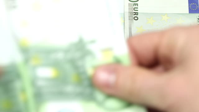 One hundred euro bills - Money video