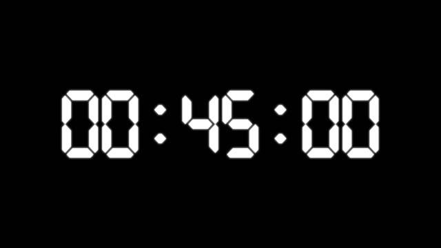 одна минута счетчик светящихся привели электронные белые цифры - касса стоковые видео и кадры b-roll