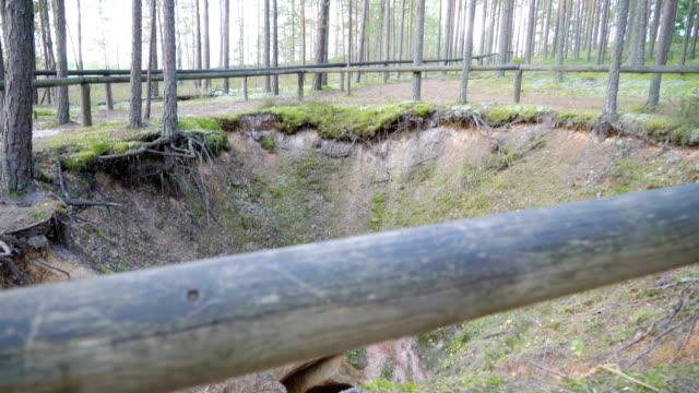 en av de grottor som finns i naturreservatet för piusa grottor - fur bildbanksvideor och videomaterial från bakom kulisserna