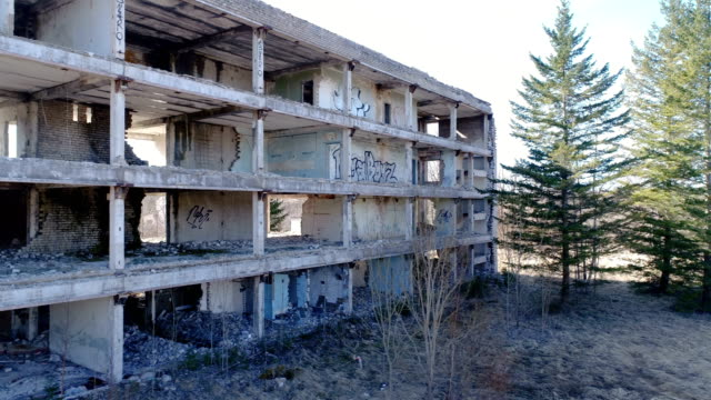 One of the damaged property from the russian war video