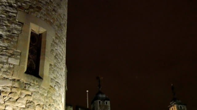 One of the side towers of the Tower of London video