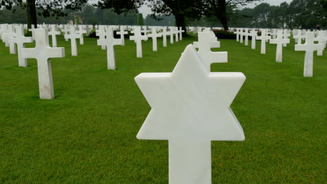 One of the star tomb from the Normandy cemetery video