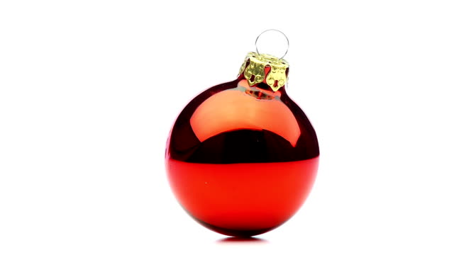 one shiny red christmas bauble looping video