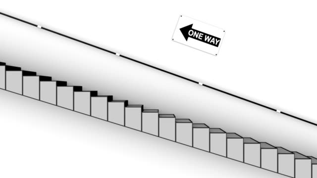 One way to Success Stairs sign-Loop and Alpha video
