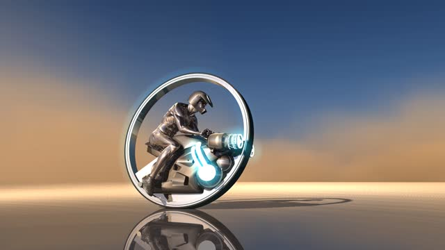 One Wheel Concept Motorcycle