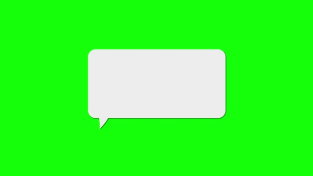 Online Chat Bubble Green Screen Chroma Key speech bubble stock videos & royalty-free footage