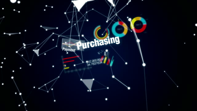 Online, Credit, , Purchasing, Mobile payment, Text animation 'E-COMMERCE' video