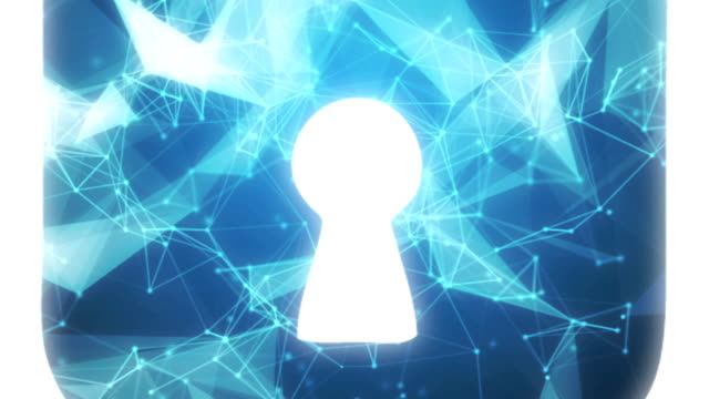 Online data security A padlock symbol made from a complex network of connected dots and lines. Data security concept padlock stock videos & royalty-free footage