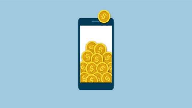 online earning on a mobile app - ricevere video stock e b–roll