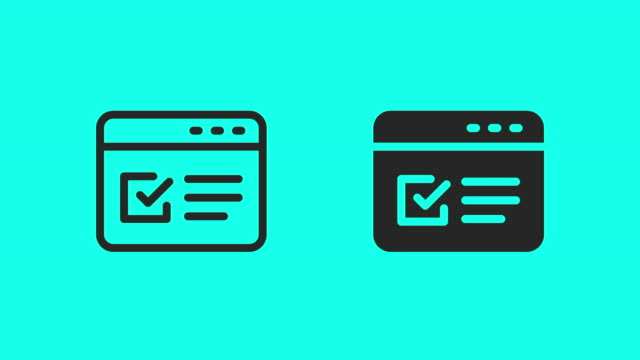 Online Form Icons - Vector Animate