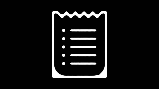 Online Invoice Hand Drawn Line Animation with Alpha