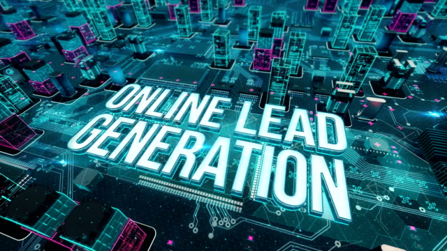 Online lead generation with digital technology concept