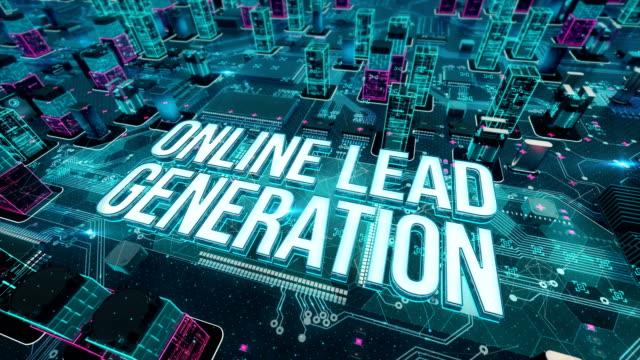 stockvideo's en b-roll-footage met online leadgeneratie met digitale technologie concept - lood