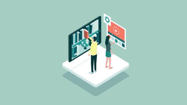 vídeos y material grabado en eventos de stock de base de datos y aprendizaje en línea - seo