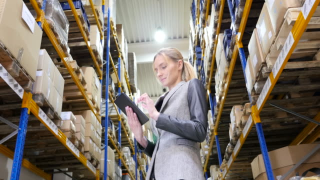 On-line orders from modern warehouse video